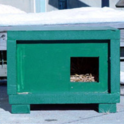 insulated straw lined diy feral cat shelter