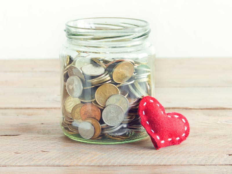 Ways to Help Shelters: Donation jar